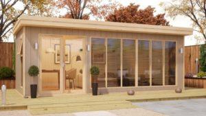 insulated garden office 20x8