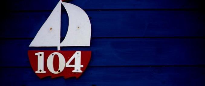 104 sailing boat decoration, cromer norfolk
