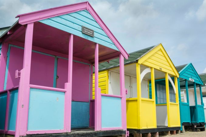 Pink and Blue Beach hut southwold