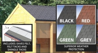 black red green grey shingles
