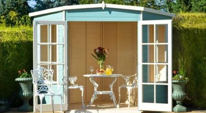 summerhouse with open doors