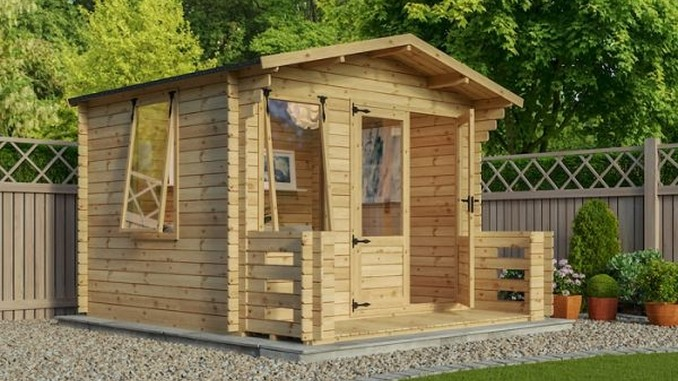 adley newhaven log cabin with veranda