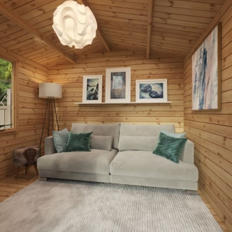 log cabin garden room
