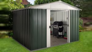 Yardmaster green metal shed 10 x 8