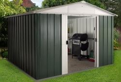 green metal shed - main