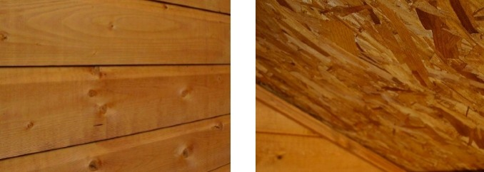 wall cladding and roof board