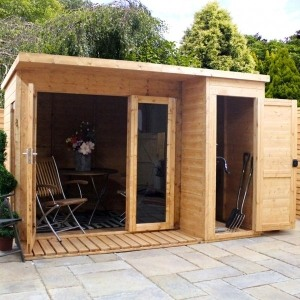 Adley cambridge summer house with side shed