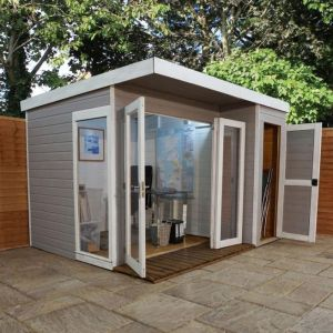 Adley cambridge summerhouse with side shed