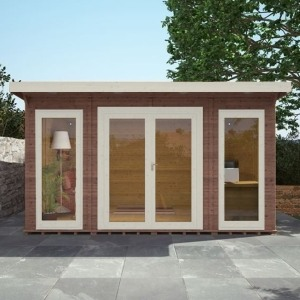 Adley insulated garden room brown