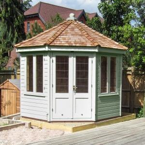 crane round insulated summerhouse 3x3