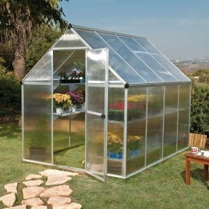 palram mythos silver polycarbonate greenhouse 6 x 8