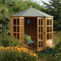 rowlinson 8 x 8 ryton octagonal summerhouse