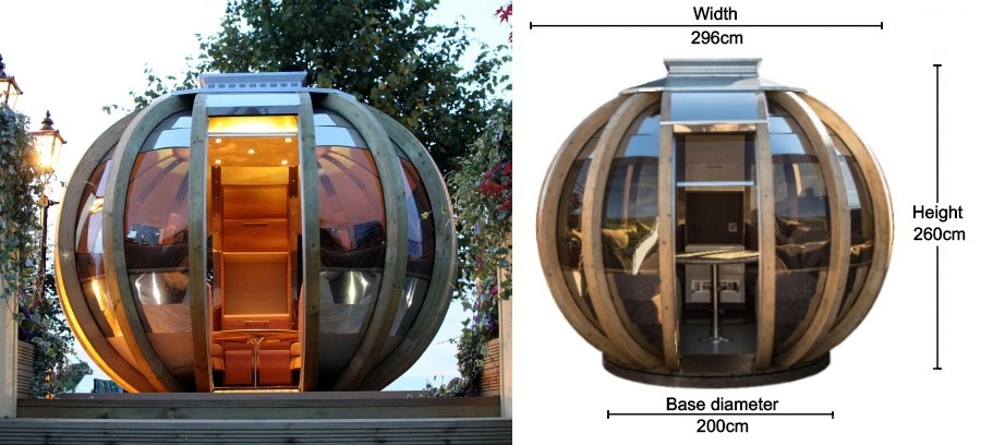 farmers cottage deluxe summerhouse sphere dimensions