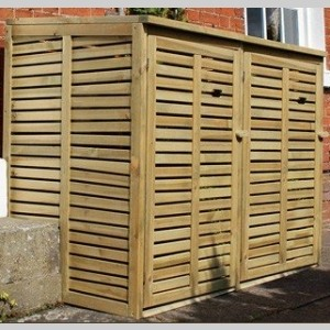 Garden Furniture double wheelie bin store