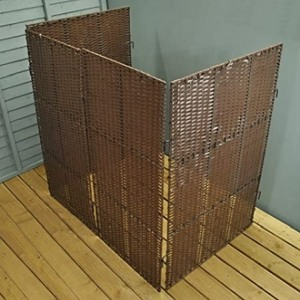 rattan wheelie bin screen
