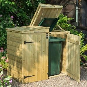 rowlinson apex double wheelie bin store
