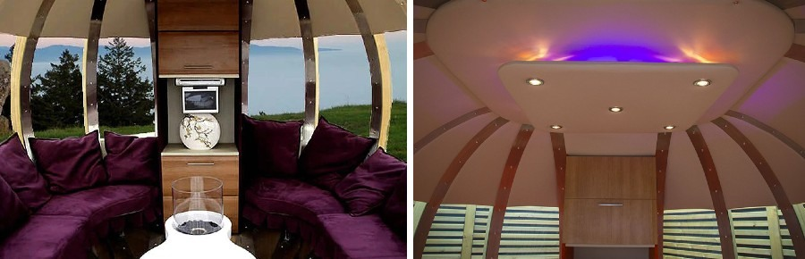 deluxe summerhouse sofa and mood lighting