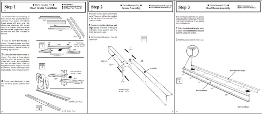 woodvale instruction booklet excerpt